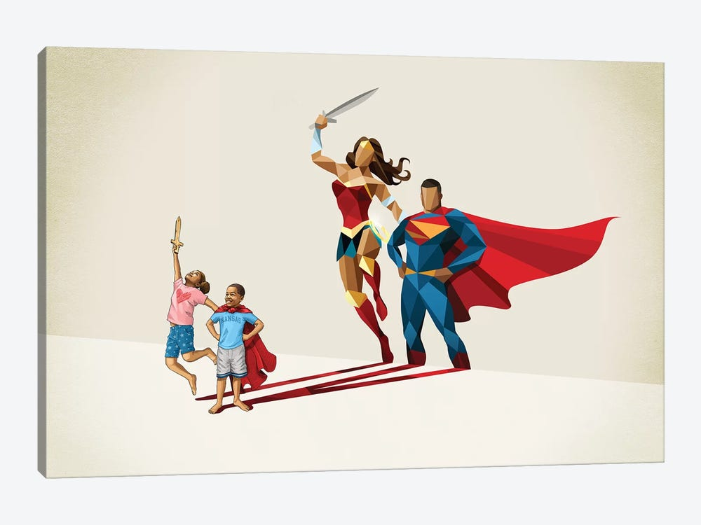 Little League by Jason Ratliff 1-piece Canvas Artwork
