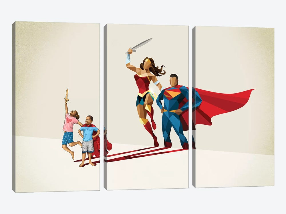 Little League by Jason Ratliff 3-piece Canvas Artwork