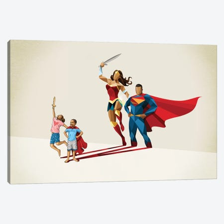 Little League Canvas Print #JRF45} by Jason Ratliff Art Print