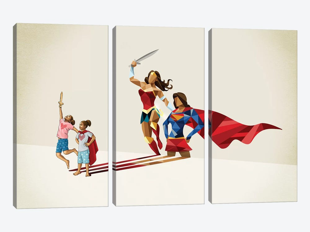 Sisters In Arms by Jason Ratliff 3-piece Canvas Print