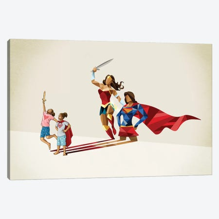 Sisters In Arms Canvas Print #JRF48} by Jason Ratliff Canvas Wall Art