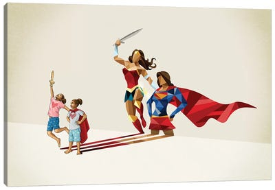 Sisters In Arms Canvas Art Print