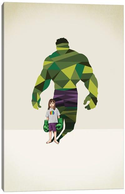 Super Shadows Girl Smash Canvas Art Print