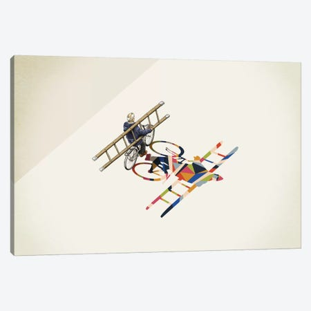 Walking Shadow Bicycle Canvas Print #JRF6} by Jason Ratliff Canvas Artwork