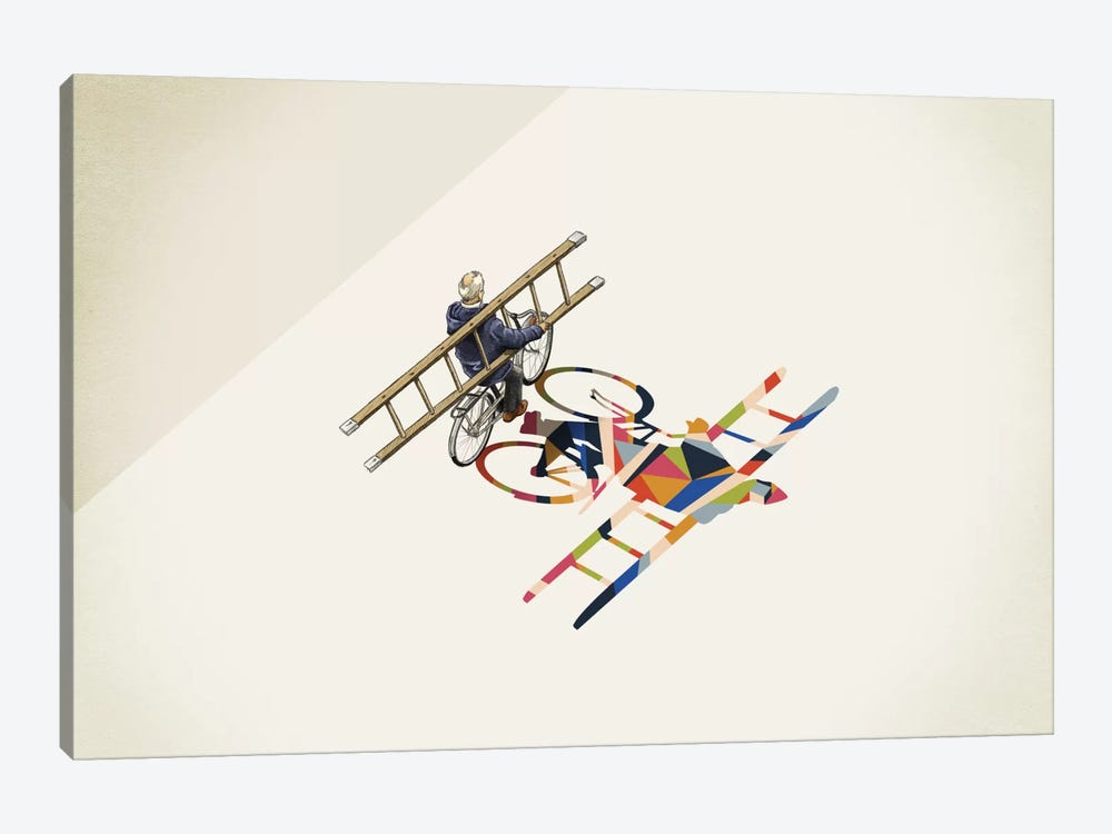 Walking Shadow Bicycle by Jason Ratliff 1-piece Canvas Artwork