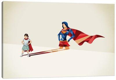 Super Shadows Heroine Canvas Art Print
