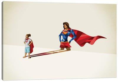Super Shadows Kid Of Steel Canvas Art Print