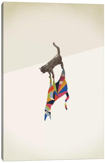 Walking Shadow Cat I Canvas Art Print