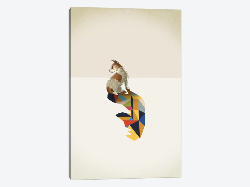 Walking Shadow Dog by Jason Ratliff 1-piece Art Print