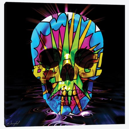 Bang Skull Canvas Print #JRH10} by Jan Raphael Canvas Art Print