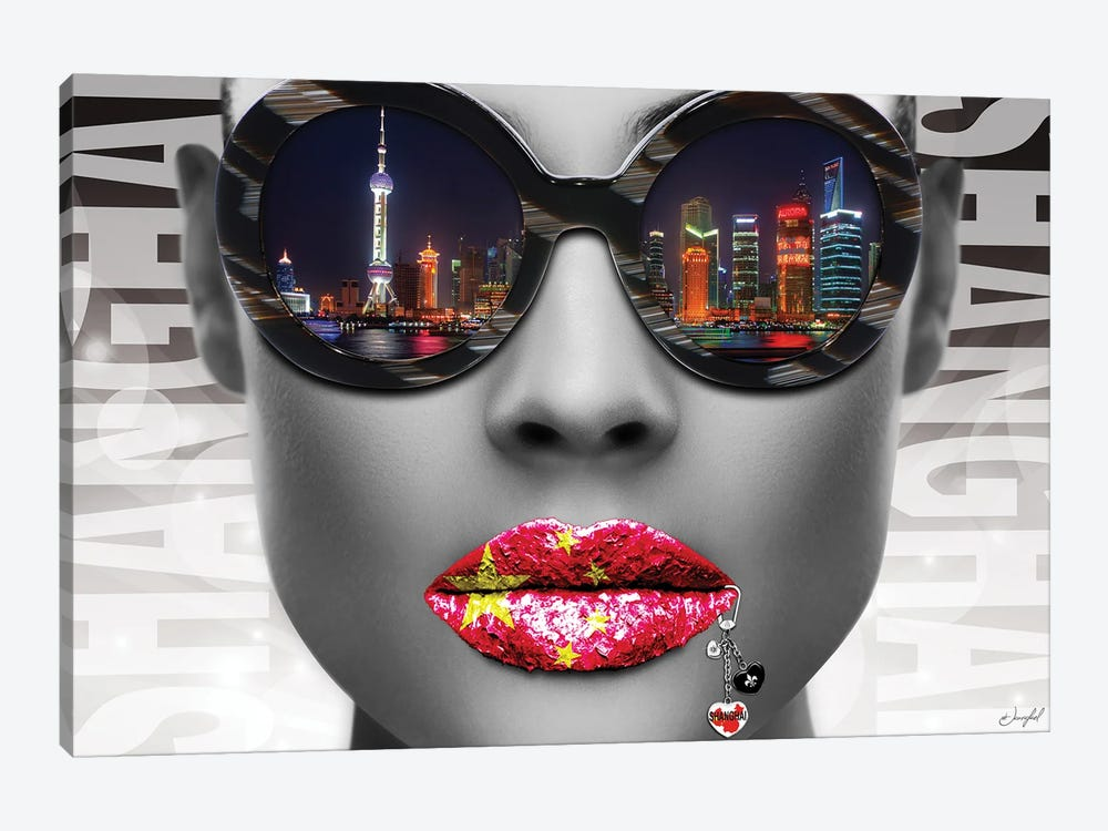 Musa Shanghai by Jan Raphael 1-piece Canvas Wall Art
