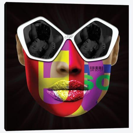 URSOQT Face Canvas Print #JRH40} by Jan Raphael Canvas Wall Art