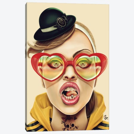 WOW Canvas Print #JRI17} by Giulio Rossi Art Print