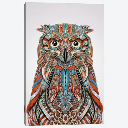 Eagle Owl Canvas Print #JRI24} by Giulio Rossi Canvas Wall Art