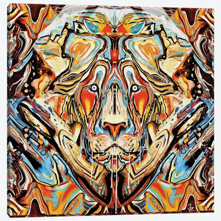 Lion Canvas Print #JRI26} by Giulio Rossi Canvas Art