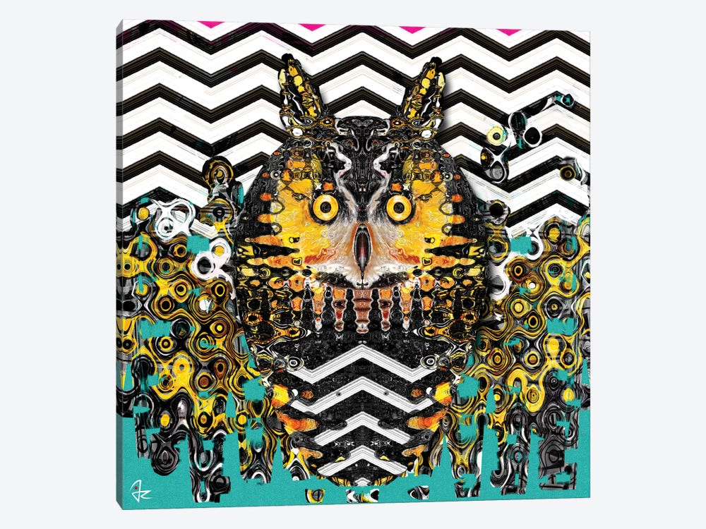 Owl by Giulio Rossi 1-piece Canvas Artwork