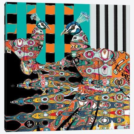 Peacocks Canvas Print #JRI28} by Giulio Rossi Canvas Print