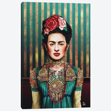 Frida Canvas Print #JRI34} by Giulio Rossi Canvas Print