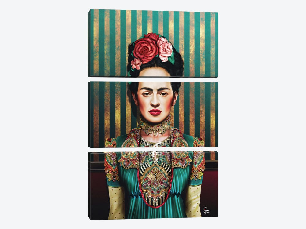 Frida by Giulio Rossi 3-piece Canvas Wall Art