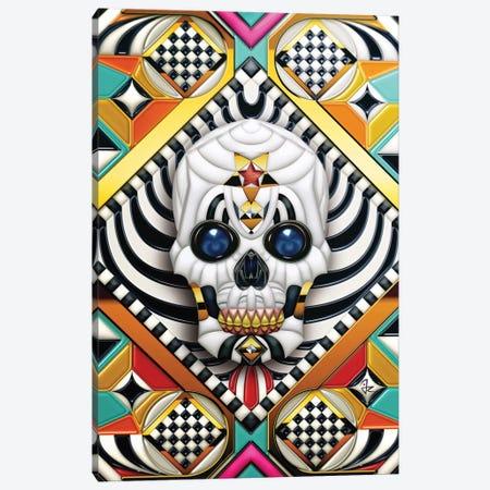 Geometric Skull Canvas Print #JRI35} by Giulio Rossi Canvas Art Print