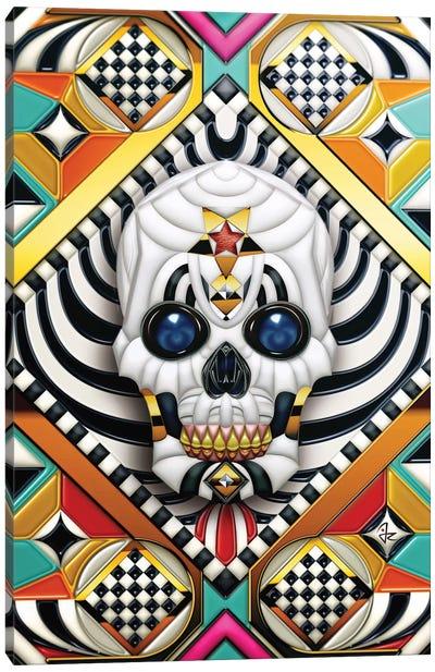 Geometric Skull Canvas Art Print