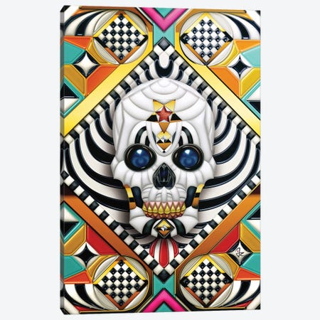 Geometric Skull Canvas Print #JRI35} by Giulio Rossi Canvas Art Print