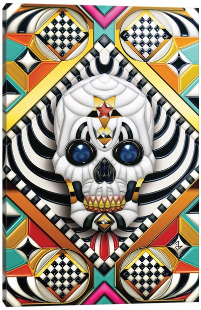 Geometric Skull Canvas Art Print