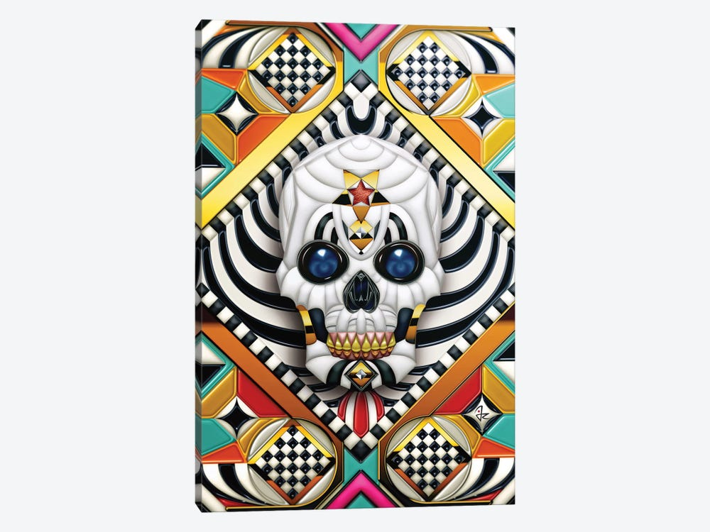 Geometric Skull 1-piece Canvas Print