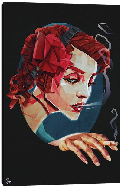 Smoking Princess Canvas Art Print