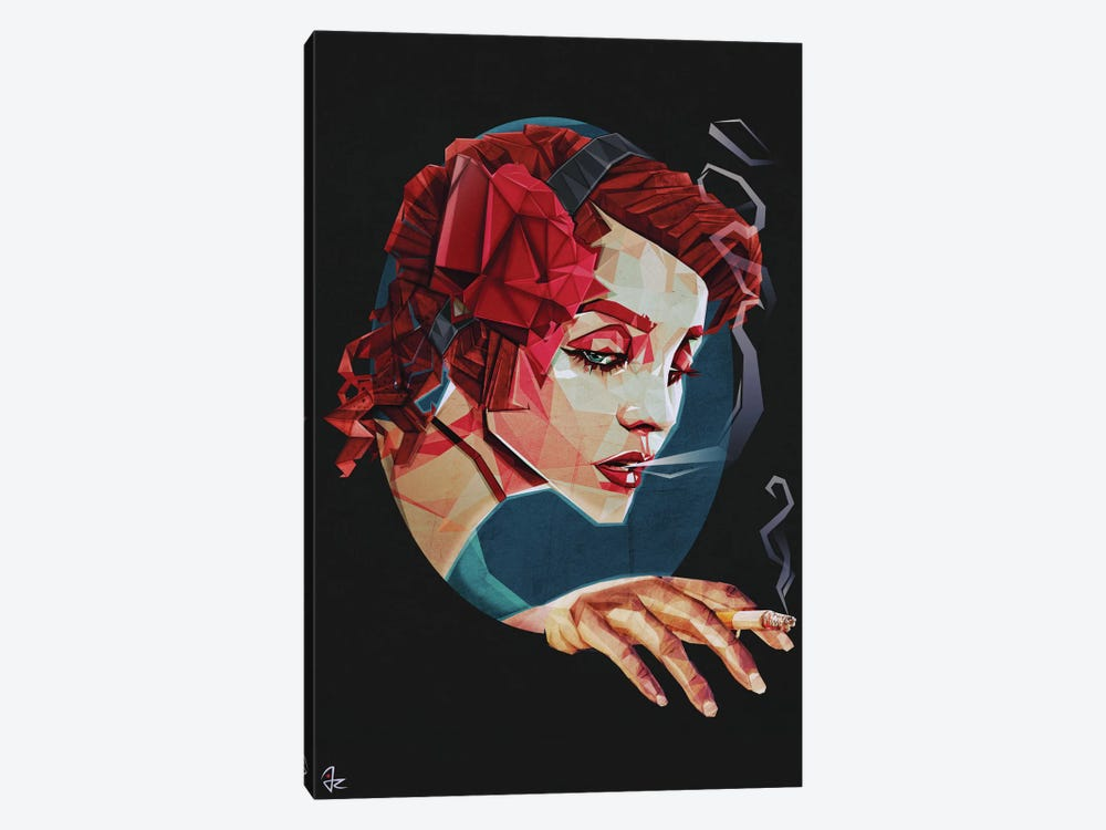 Smoking Princess by Giulio Rossi 1-piece Canvas Wall Art