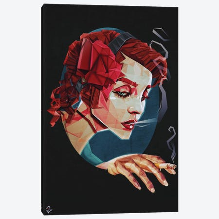 Smoking Princess Canvas Print #JRI36} by Giulio Rossi Canvas Art Print