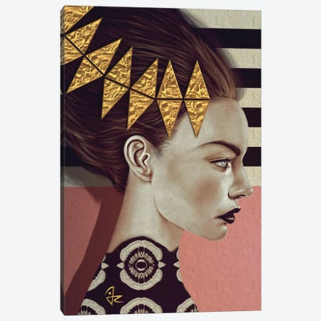 Gold Leaf Canvas Print #JRI3} by Giulio Rossi Canvas Artwork
