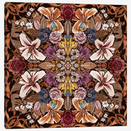 Floral I Canvas Print #JRI45} by Giulio Rossi Canvas Wall Art