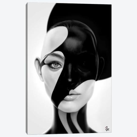 Black Mask Canvas Print #JRI52} by Giulio Rossi Canvas Artwork