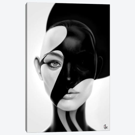 Black Mask Canvas Print #JRI52} by Giulio Rossi Canvas Artwork