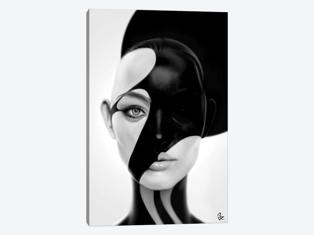 Black Mask by Giulio Rossi 1-piece Canvas Wall Art