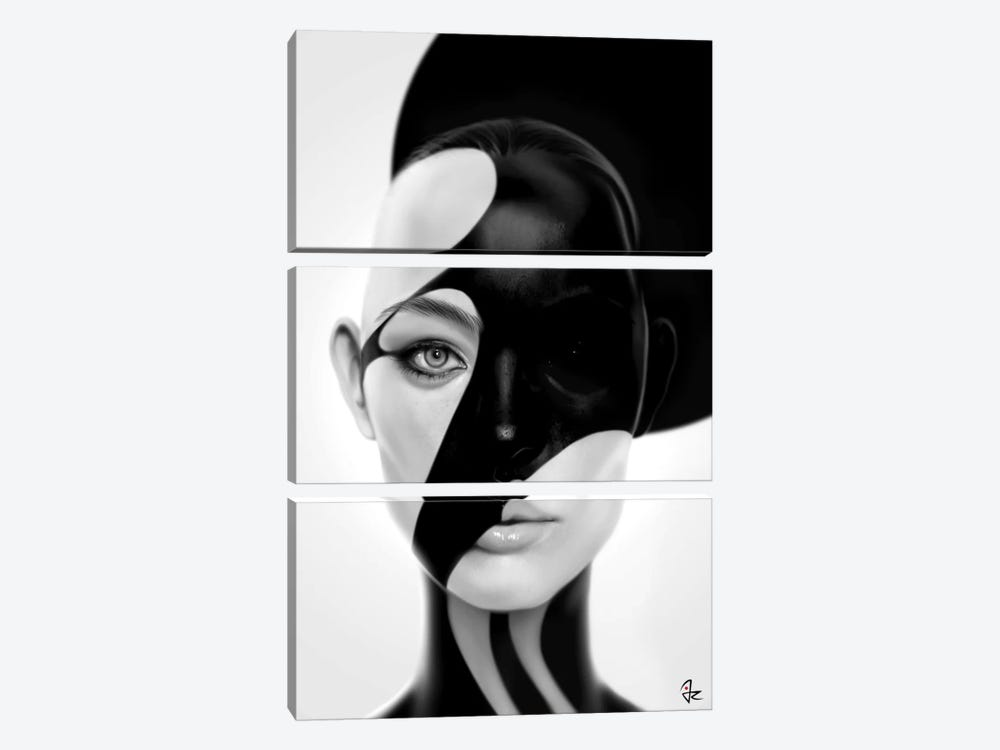 Black Mask by Giulio Rossi 3-piece Canvas Artwork