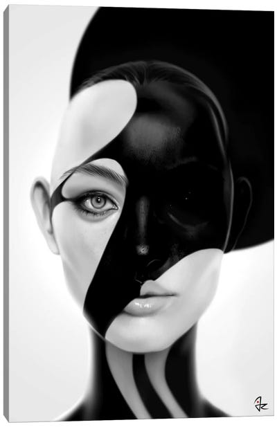Black Mask Canvas Art Print