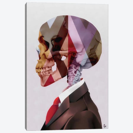 Red Tie Canvas Print #JRI67} by Giulio Rossi Canvas Art