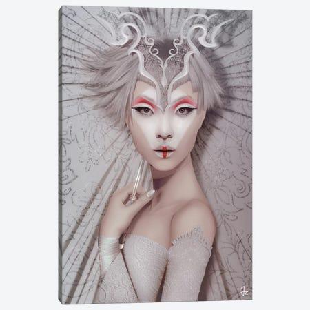 The White Geisha Canvas Print #JRI78} by Giulio Rossi Canvas Artwork
