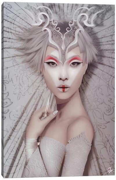 The White Geisha Canvas Art Print