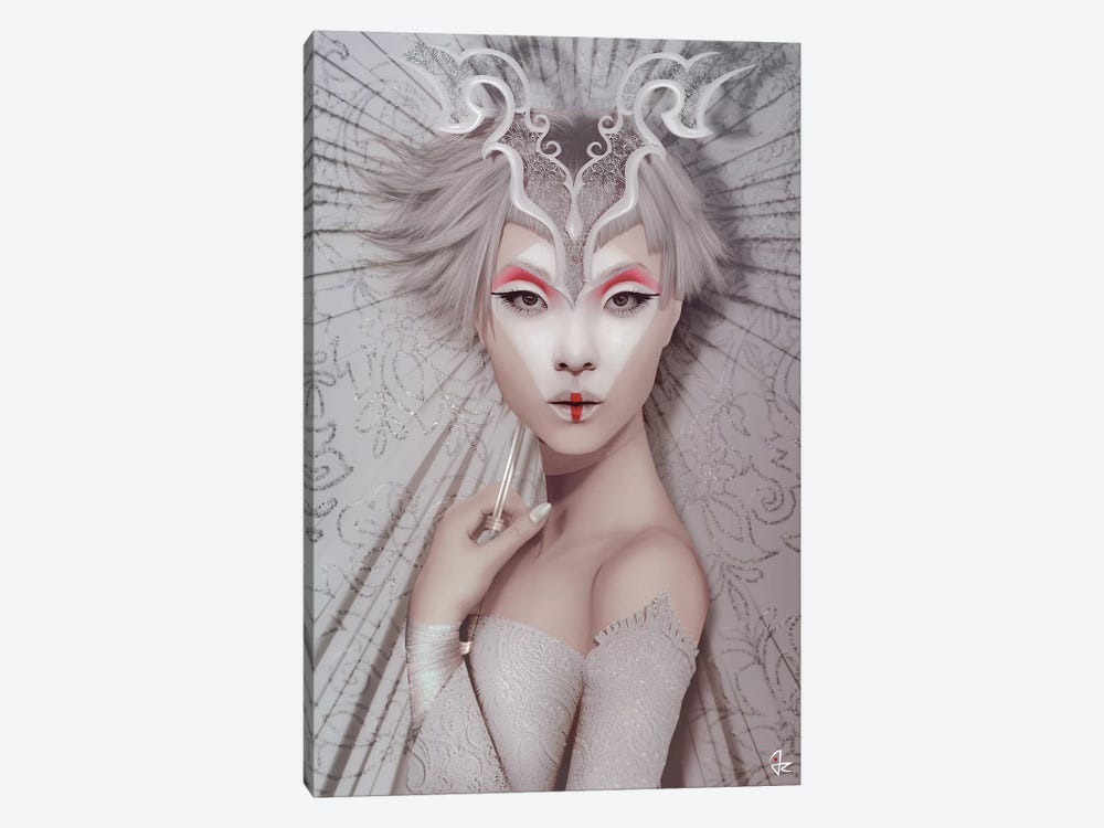 The White Geisha 1-piece Canvas Wall Art