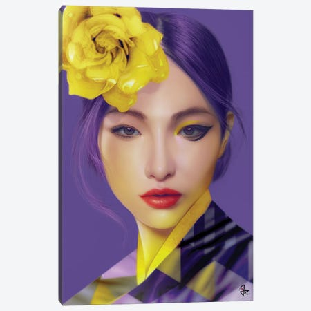 Ultra Violet 3-Piece Canvas #JRI79} by Giulio Rossi Canvas Wall Art