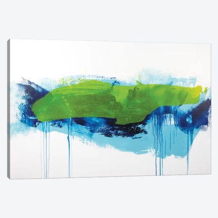 Aqua Tide Canvas Print #JRM2} by Jude Remedios Canvas Artwork