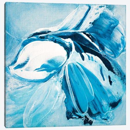 Blue Dahlia Canvas Print #JRM42} by Jude Remedios Canvas Art Print