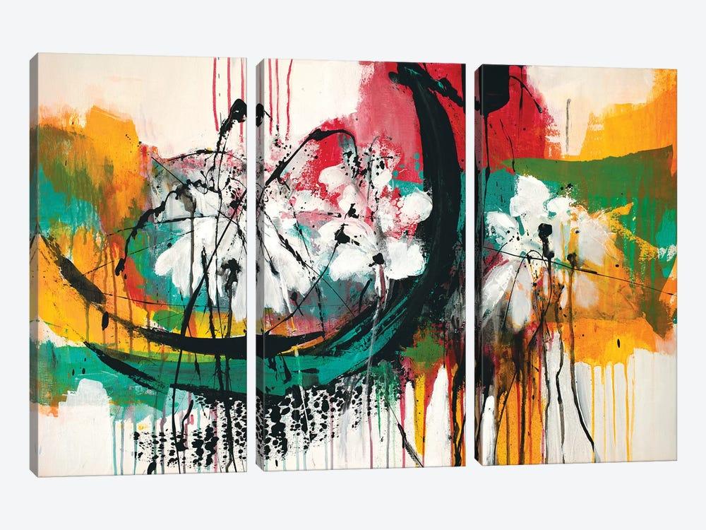 Mardi Gras No.2 by Jude Remedios 3-piece Canvas Wall Art