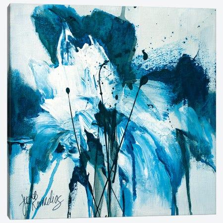 Tangled Blue No.2 Canvas Print #JRM75} by Jude Remedios Art Print