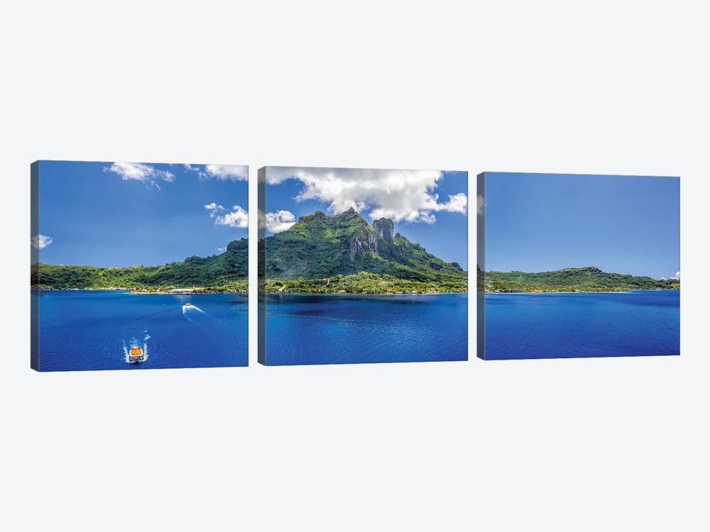 Tender To Bora Bora by Jonathan Ross Photography 3-piece Canvas Art Print
