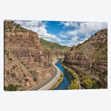 Through The Canyon Canvas Print #JRP102} by Jonathan Ross Photography Art Print
