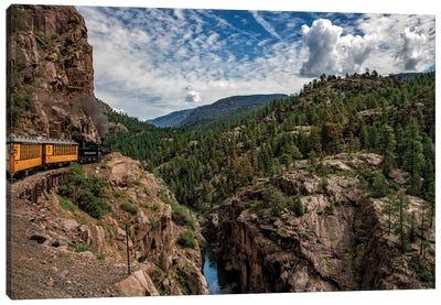 Train Ride In The Rockies Canvas Art Print
